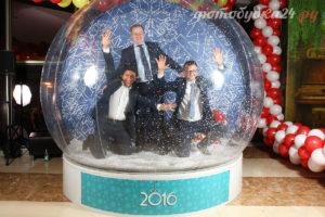 Новогодний снежный чудо-шар